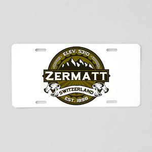 Zermatt Olive Aluminum License Plate