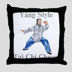 Yang Tai Chi Chuan Throw Pillow