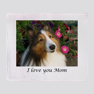 I love you Mom! Throw Blanket