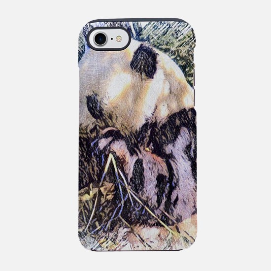 impressive Animal -Panda iPhone 7 Tough Case