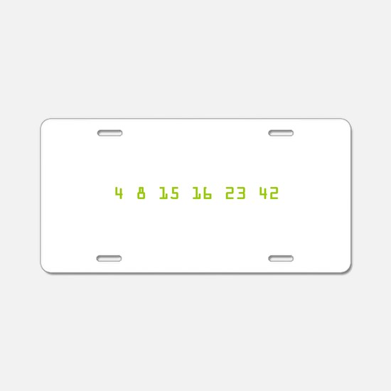 Every 108 Minutes Aluminum License Plate