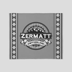 Zermatt Grey Throw Blanket
