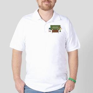 Cartoon Teacher Appreciation Male Golf Shirt