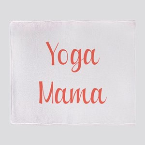 Yoga Mama Throw Blanket