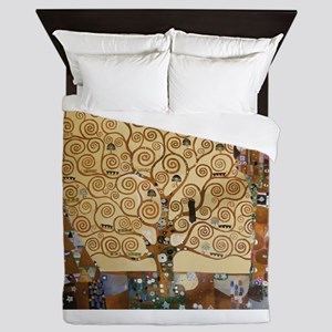 Gustav Klimt Tree Of Life Queen Duvet