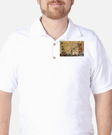 Gustav Klimt Tree Of Life Golf Shirt