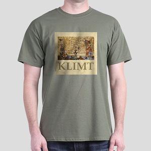Gustav Klimt Tree Of Life Dark T-Shirt