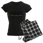"""Alpha Viola Omega"" Women's Dark Pajamas"