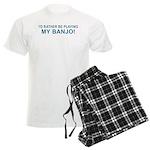 Playing Banjo Men's Light Pajamas
