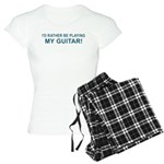 Playing Guitar Women's Light Pajamas
