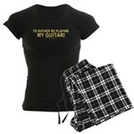 Playing Guitar Women's Dark Pajamas