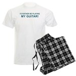 Playing Guitar Men's Light Pajamas
