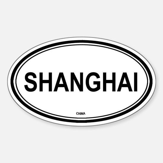 Shanghai, China euro Oval Decal