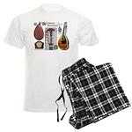 Antique Mandolute Men's Light Pajamas