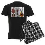 Antique Mandolute Men's Dark Pajamas