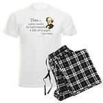 """Berlioz """"Time"""" Quote Men's Light Pajamas"""