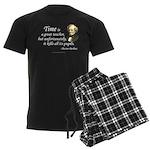 """Berlioz """"Time"""" Quote Men's Dark Pajamas"""