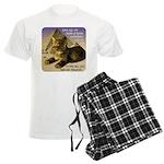 Cats in Egypt Men's Light Pajamas