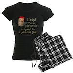 Pistachio in Peanut Jar Women's Dark Pajamas