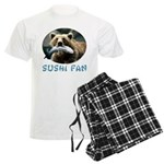 Sushi Fan Bear Men's Light Pajamas