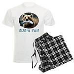Sushi Fan Bear Men's Light Pajamas