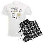 CS Lewis Soul-Body Quote Men's Light Pajamas