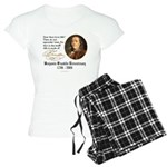Ben Franklin Life-Time Quote Women's Light Pajamas