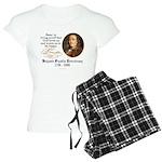 Benjamin Franklin Beer Quote Women's Light Pajamas