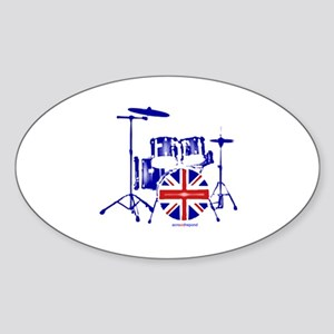 British drum kit... Sticker (Oval)