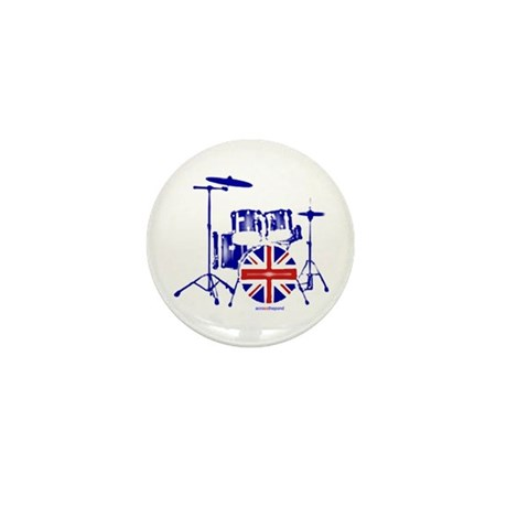 British drum kit... Mini Button