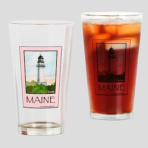 Cape Elizabeth Light Drinking Glass