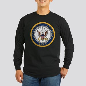 United States Navy Emblem Long Sleeve Dark T-Shirt