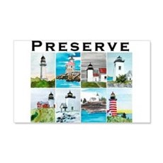 Preserve Lighthouse#2 22x14 Wall Peel