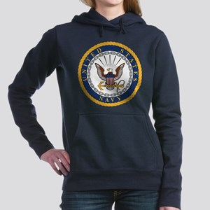 United States Navy Emble Women's Hooded Sweatshirt