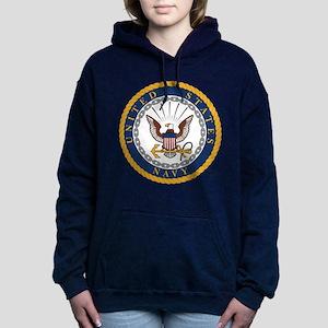 United States Navy Emble Women's Hooded Sweatshirt