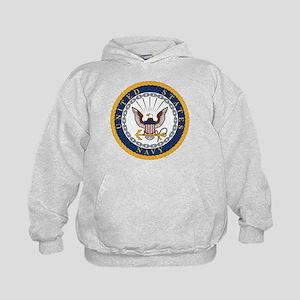 United States Navy Emblem Kids Hoodie