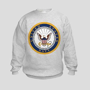 United States Navy Emblem Kids Sweatshirt