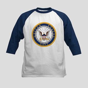 United States Navy Emblem Kids Baseball Tee