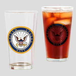 United States Navy Emblem Drinking Glass