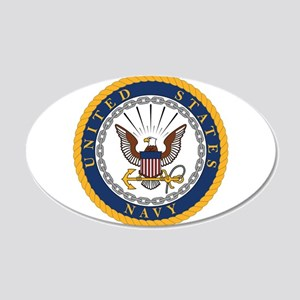 United States Navy Emblem 20x12 Oval Wall Decal