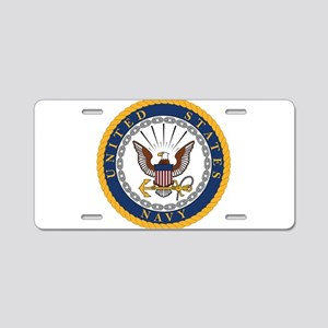 United States Navy Emblem Aluminum License Plate