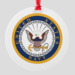 United States Navy Emblem Round Ornament