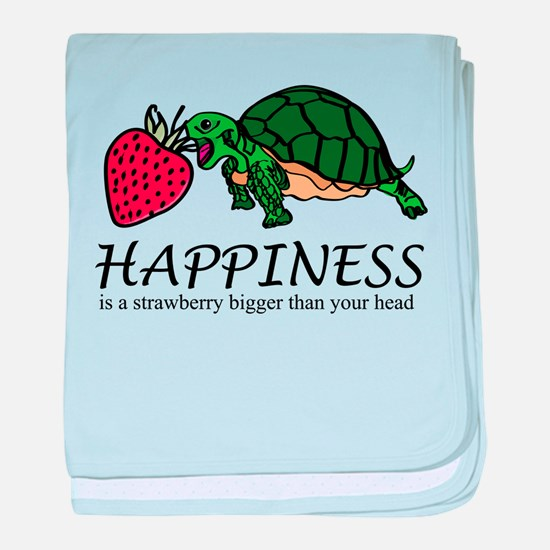 Happiness is (Strawberry) baby blanket