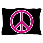 Pink Peace Sign Pillow Case