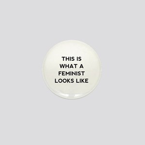 What a feminist looks like Mini Button