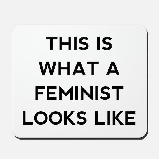 What a feminist looks like Mousepad
