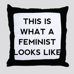What a feminist looks like Throw Pillow