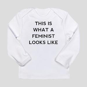 What a feminist looks l Long Sleeve Infant T-Shirt