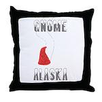 Gnome Alaska Throw Pillow