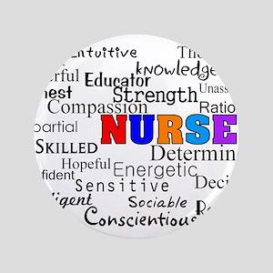 """Nurse 3.5"""" Button"""